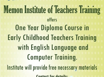 Memon Institute Training